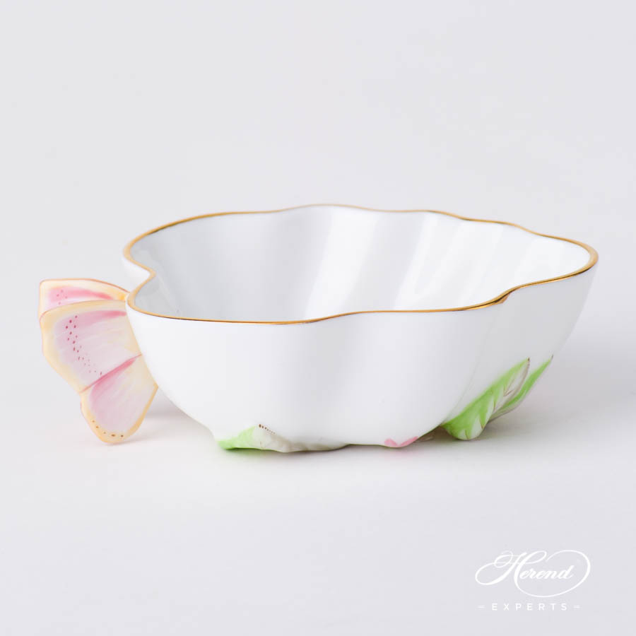 Sugar Bowl w. Butterfly Handle 2492-0-17 EDENP Eden Pink pattern. Herend fine china hand painted. Classical style tableware