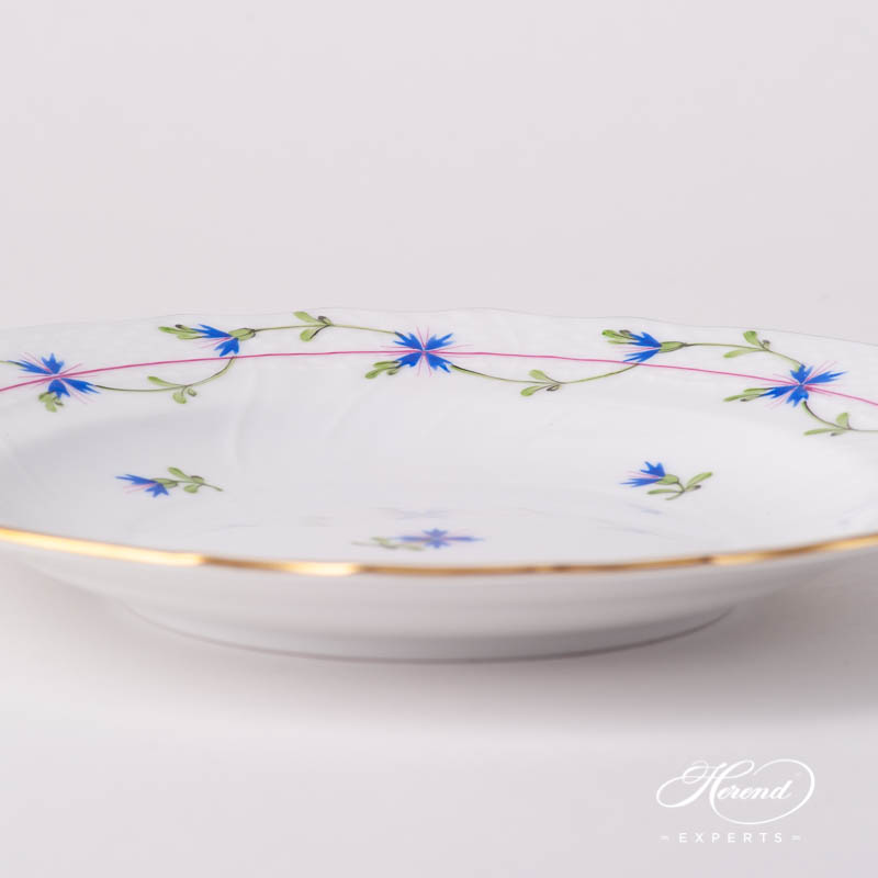 Dessert Plate 1518-0-00 PBG Cornflower Blue Garland design. Herend fine china