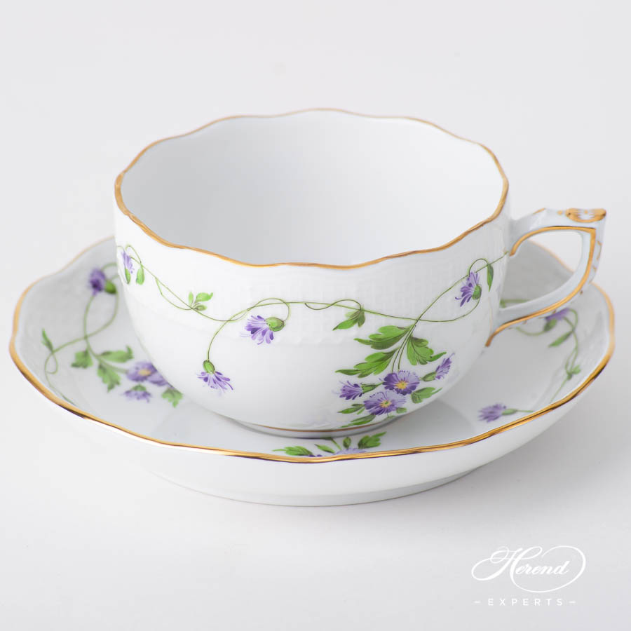 Tea Cup w. Saucer 724-0-00 IA Imola Flower pattern. Herend fine china