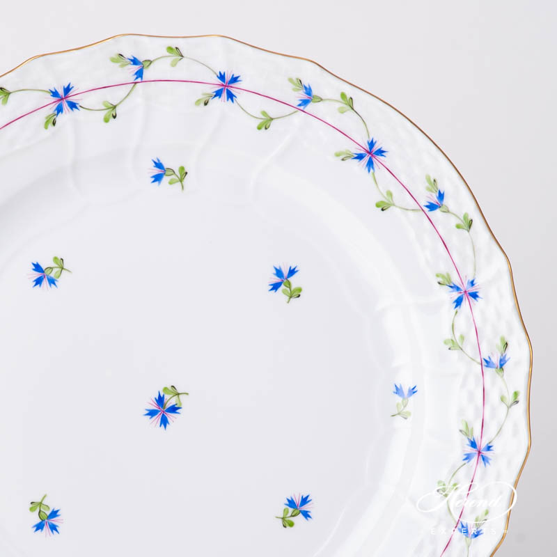 Serving / Service Plate 1527-0-00 PBG Cornflower Blue Garland design. Herend fine china