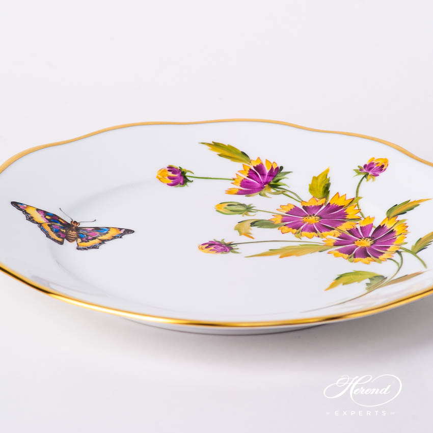 Dessert Plate 20519-0-00 FLA-BF American Wildflowers / Indian Blanket Flower pattern. Herend fine china