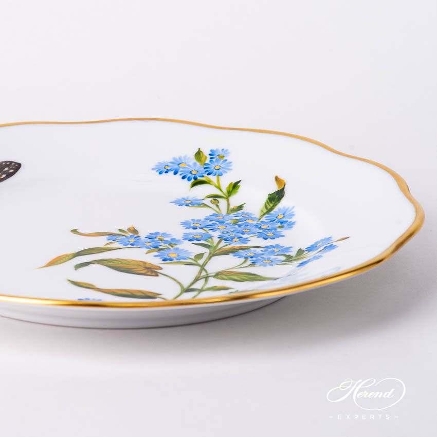Dessert Plate 20519-0-00 FLA-AS American Wildflowers / Blue Wood Aster pattern. Herend fine china
