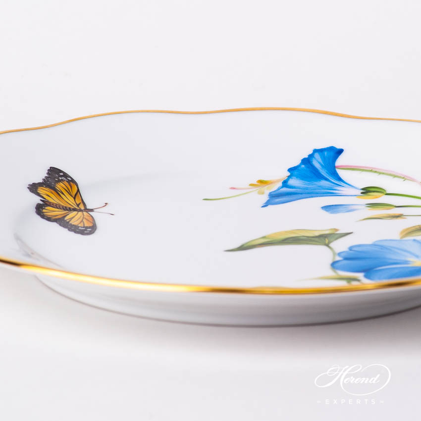 Dessert Plate 20519-0-00 FLA-MG American Wildflowers / Morning Glory pattern. Herend fine china