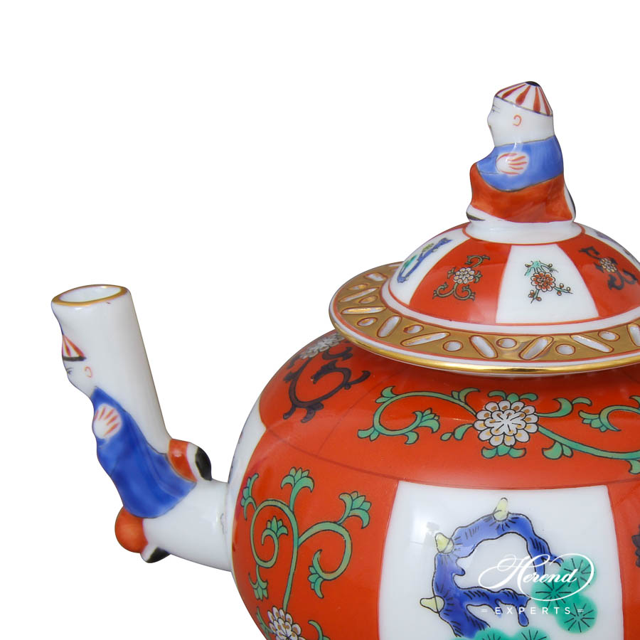 Mini Tea Pot w. Mandarin Knob 3305-0-21 G Godollo design. Herend fine china