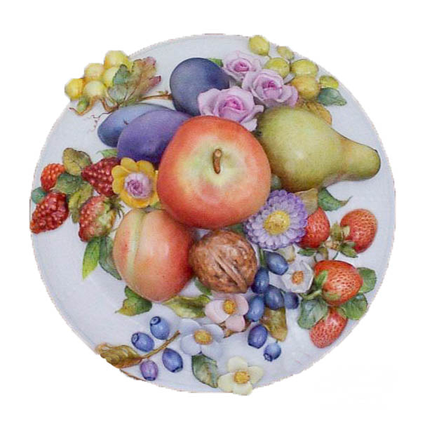 Soup Tureen 22-0-66 CD Fruit / Flower Applications Natural design. Herend fine china