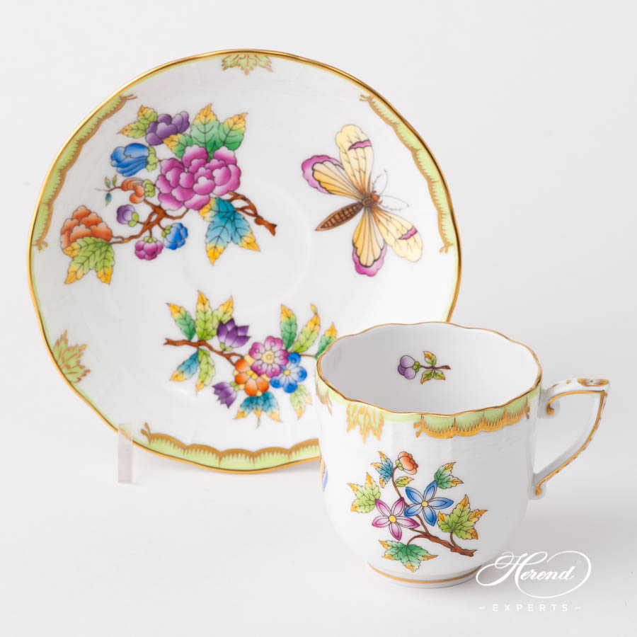Coffee Cup w. Saucer707-0-00 VBO Queen Victoria design. Herend fine china