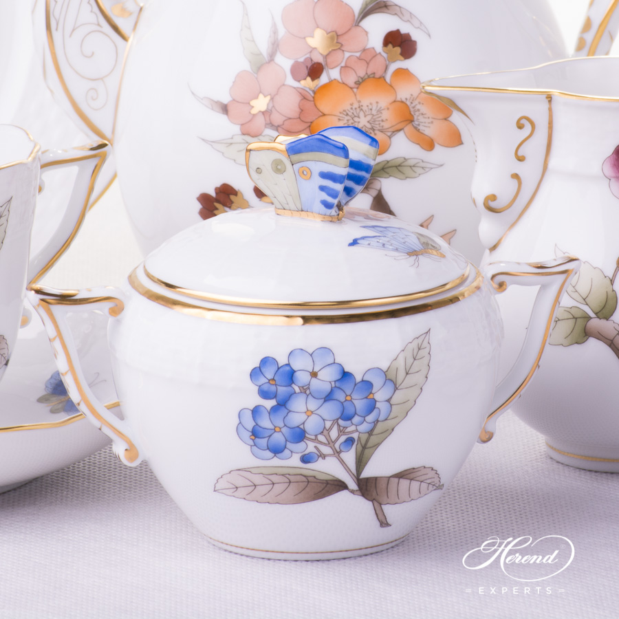 Coffee Set for 2 People - Herend Victoria Grand VICTMC design. Herend fine china