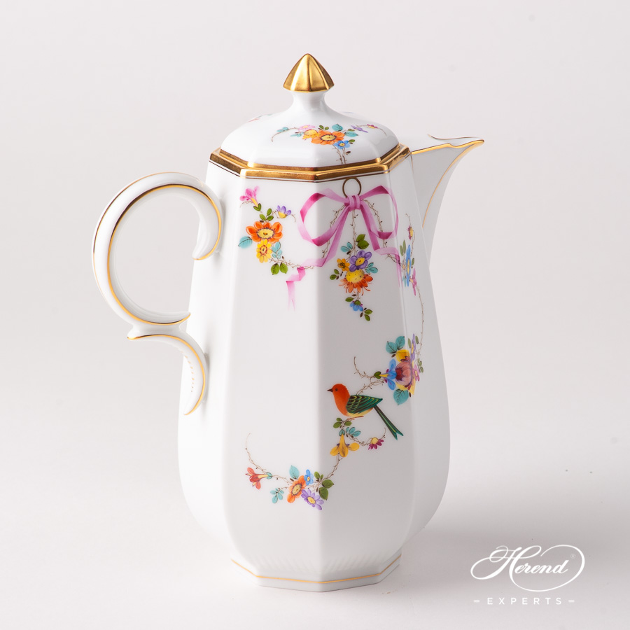 Coffee Pot w. Button Knob 4308-0-15 JM Mediterranean Garden design. Herend fine china