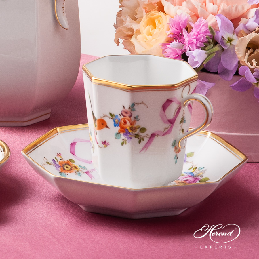 Coffee / Chocolate Cup w. Saucer 4306-0-00 JM Mediterranean Garden design. Herend fine china