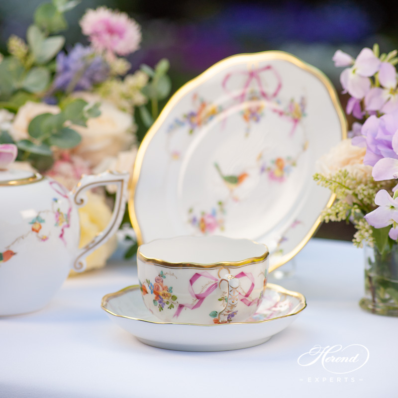 Mini Tea Set for 1 Person - Herend Mediterranean Garden JM pattern. Herend fine china