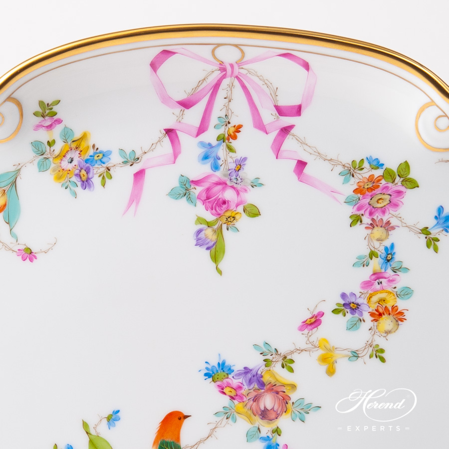 Tray w. Ribbon 20400-0-00 JM Mediterranean Garden design. Herend fine china