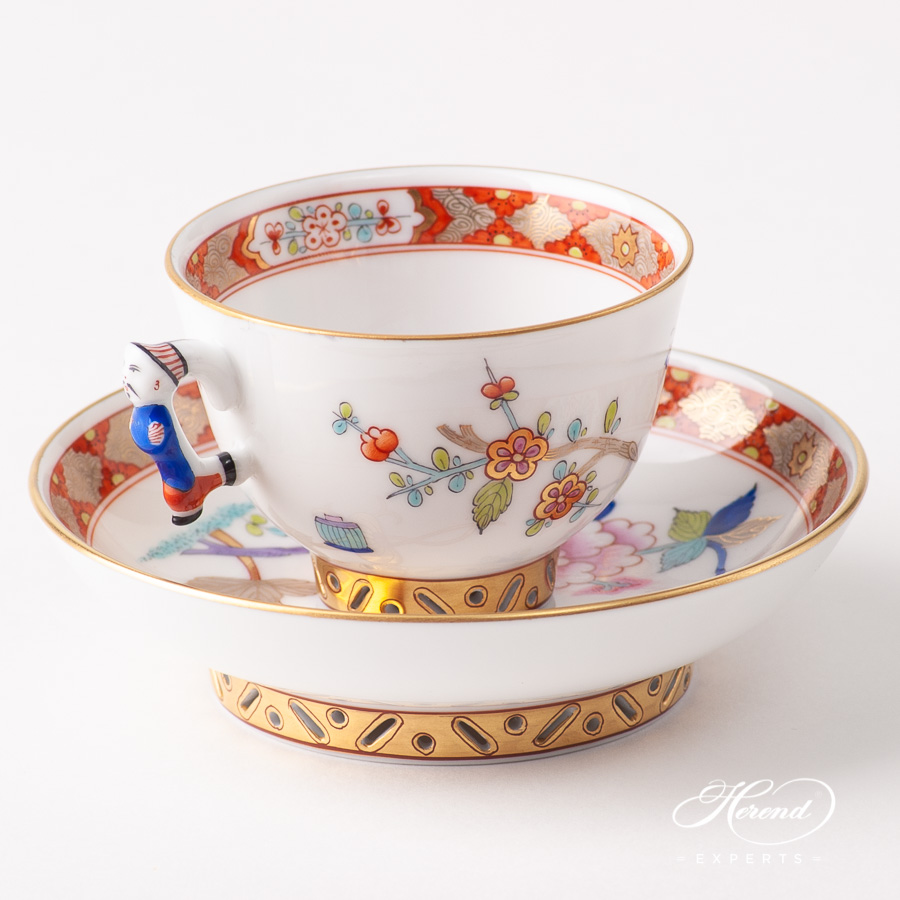 Coffee Cup / Espresso Cup w. Saucer 3371-0-00 SH Shanghai design. Herend fine china