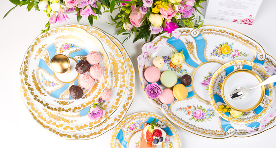 Colette cake plate and tea cup.