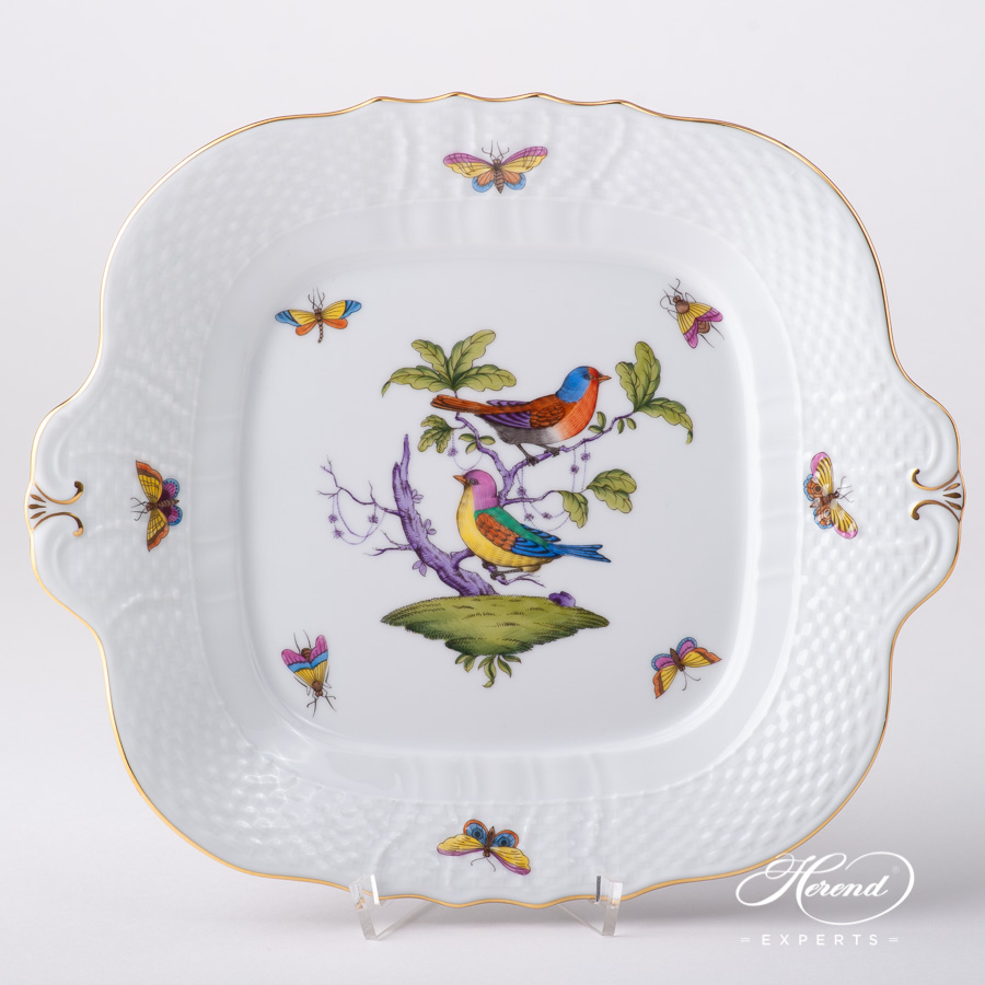 Cake Plate 1431-0-00 ROM Rothschild Multicolor design. Herend fine china