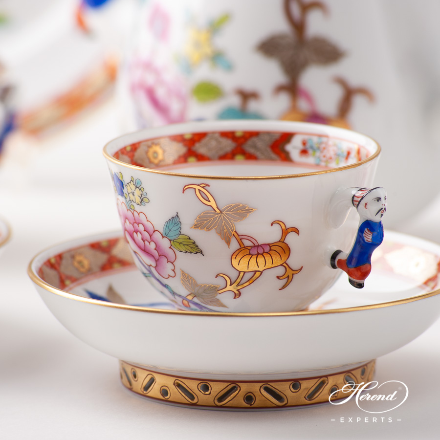 Coffee / Espresso Set for 2 Person - Herend Shanghai SH pattern. Herend fine china