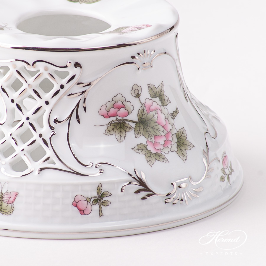 Tea Stove w. Inlay 455-0-00 VBOG-X1-PT Queen Victoria Platinum design. Herend fine china