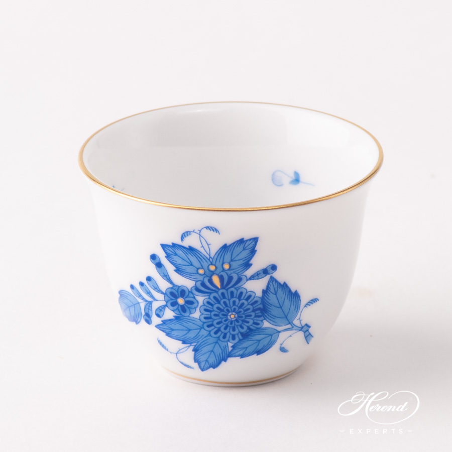Coffee Cup / Arabic Finjan 3168-0-00 AB Chinese Bouquet / Apponyi Blue pattern. Herend fine china