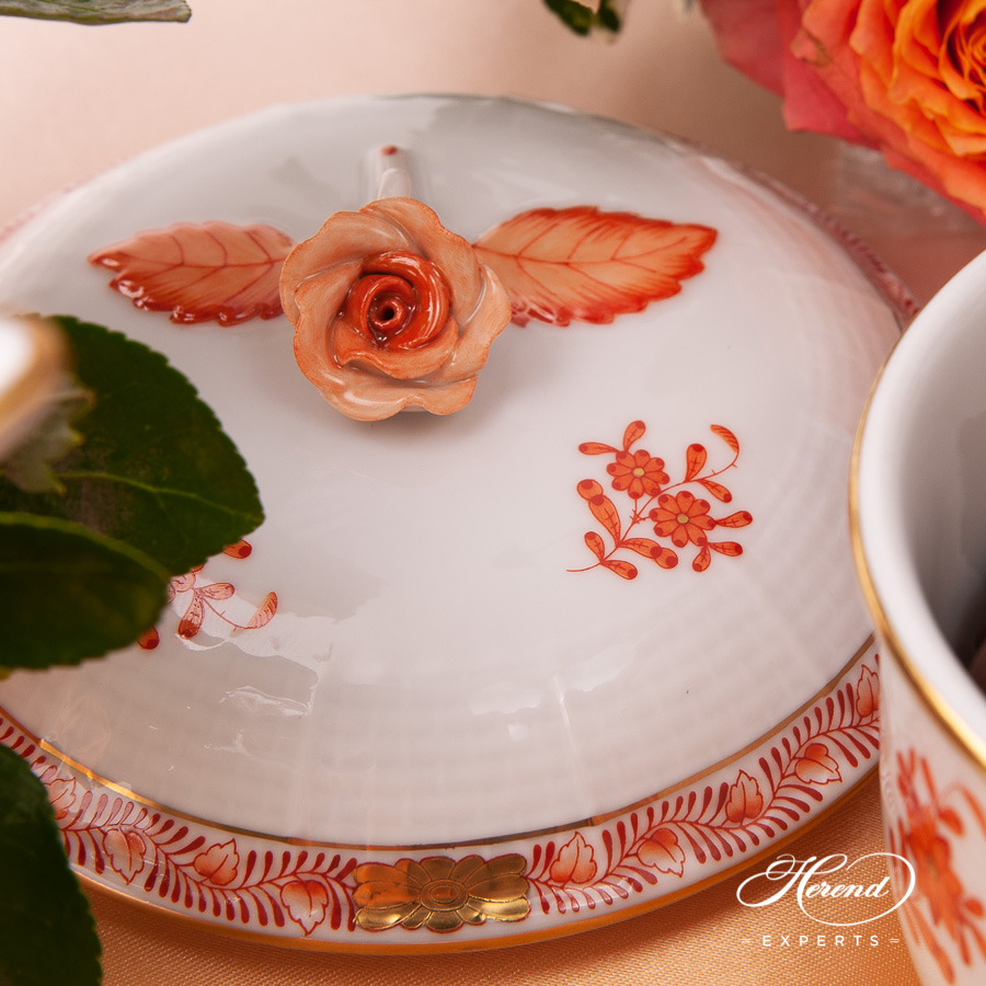 CoffeeSet for 2 People- Herend Chinese BouquetRust / Apponyi Orange - AOG pattern. Herend fine china