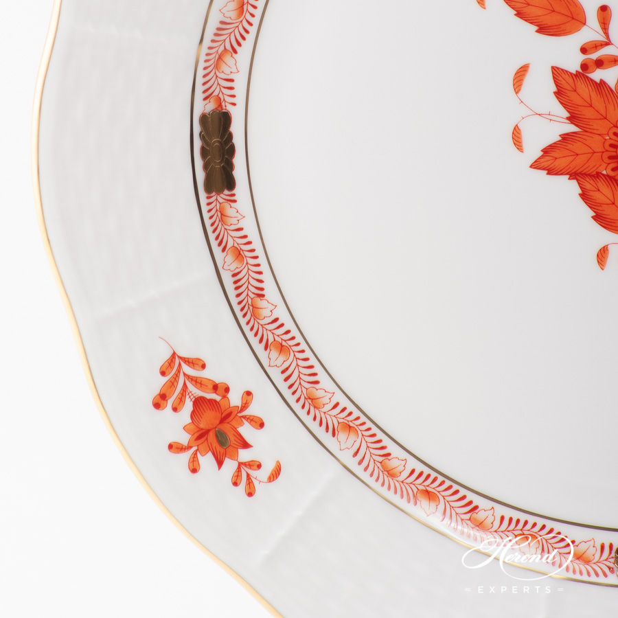 Dinner Plate 524-0-00 AOG Chinese Bouquet Rust / Apponyi Orange design. Herend fine china