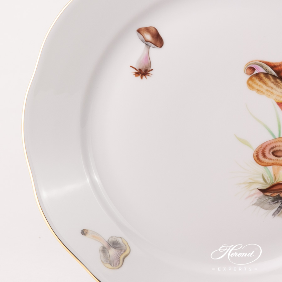 Dinner Plate 20524-0-00 CHMP-OR Forest Mushroom design. Herend fine china