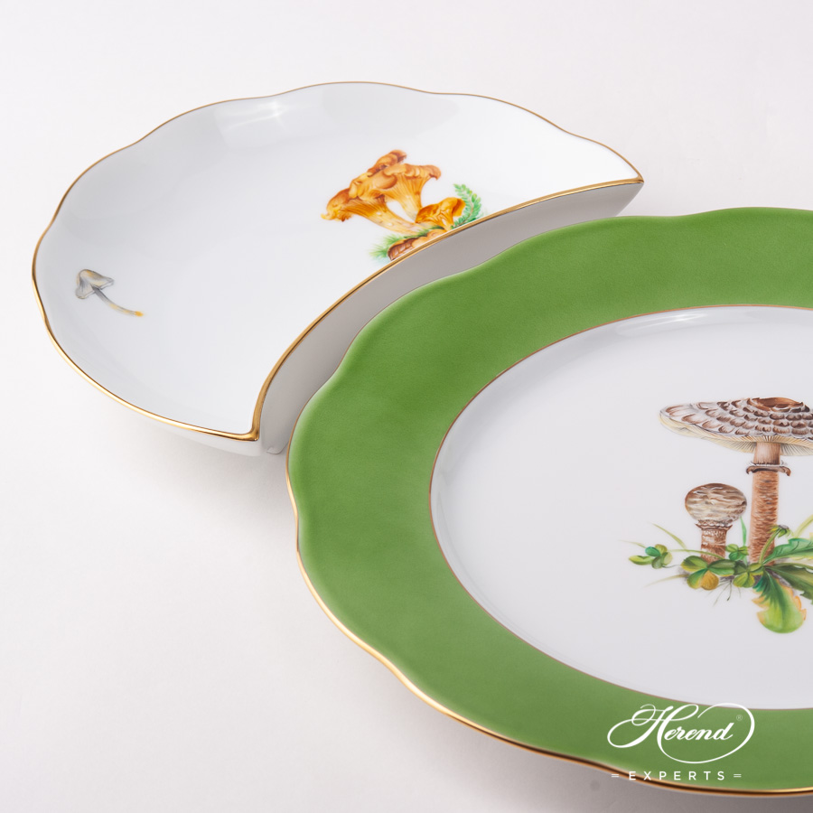 Crescent 20531-0-00 CHMP-OR Forest Mushroom design. Herend fine china