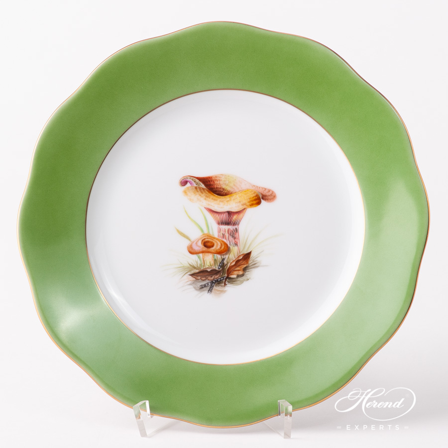 Dessert Plate 20519-0-00 X-E503 Forest Mushroom design. Herend fine china