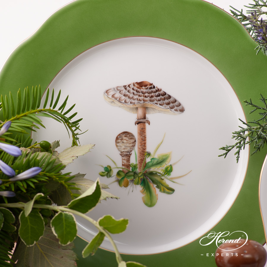 Dinner Set for 6 People - Herend Forest Mushroom CHMP-OR design. Herend fine china