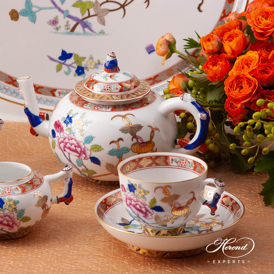 Tea Set for 2 Person - Herend Shanghai / SH pattern. Herend fine china