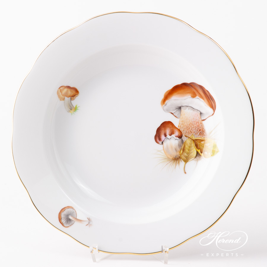 Soup Plate 20503-0-00 CHMP-OR Forest Mushroom design. Herend fine china