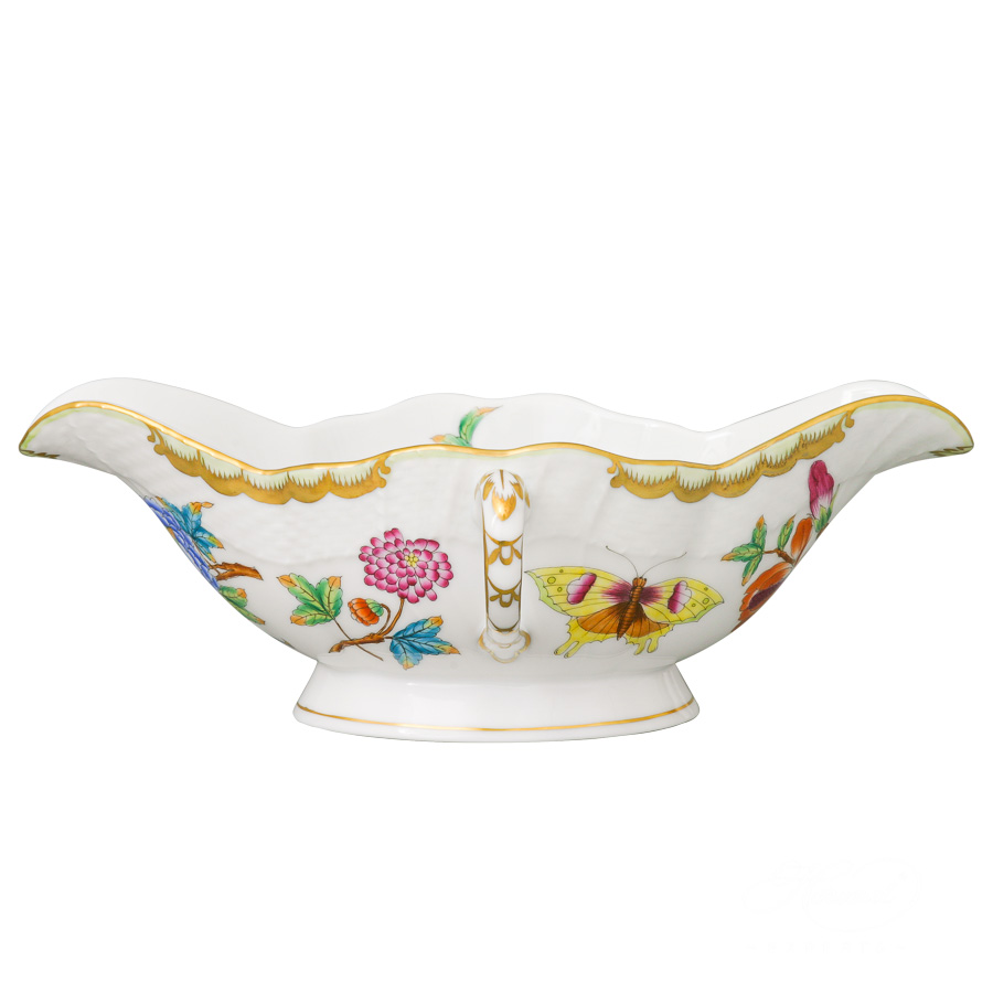 Gravy Boat 1220-0-00 Old Queen VICTORIA design. Herend fine china