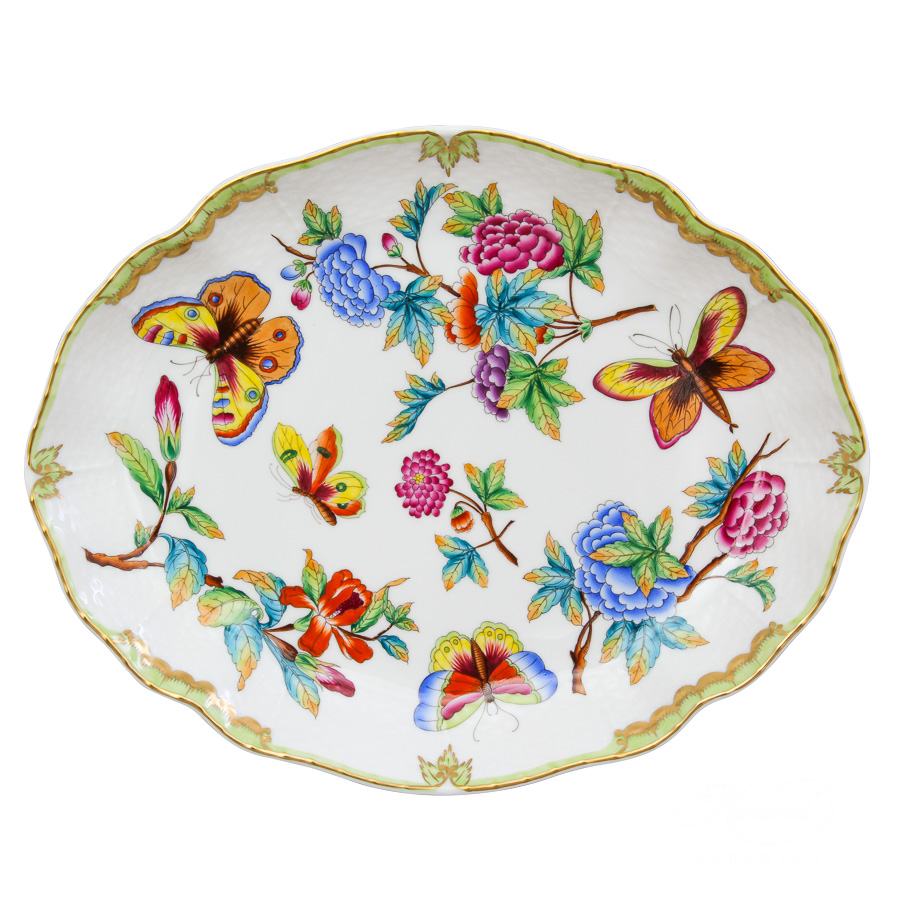 Oval Dish1211-0-00 Old Queen VICTORIAdesign. Herend fine china