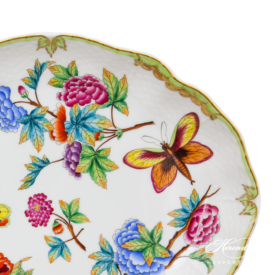 Oval Dish 1211-0-00 Old Queen VICTORIA design. Herend fine china