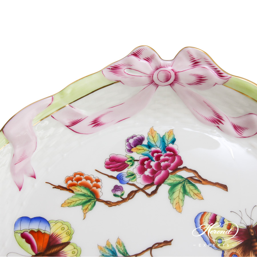 Tray w. Ribbon400-0-00 Old Queen VICTORIAdesign. Herend fine china