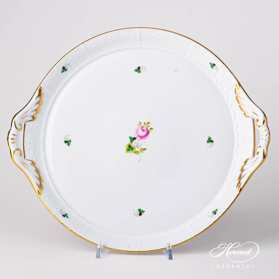 Tray with Handles 315-0-00 VRHS Vienna / Viennese Rose Goldpattern. Herend fine china