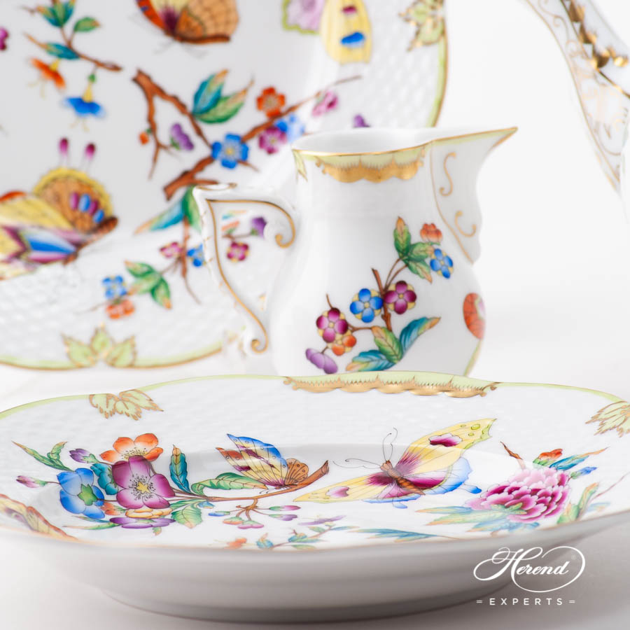 Tea Set for Two Person - Herend Old Queen VICTORIA pattern. Herend porcelain
