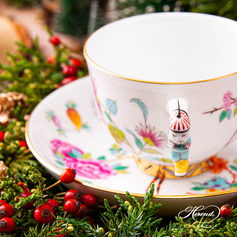 TeaCupwith Saucer 3364-0-21 SP225 Luxurious Butterfly design. Herend fine china