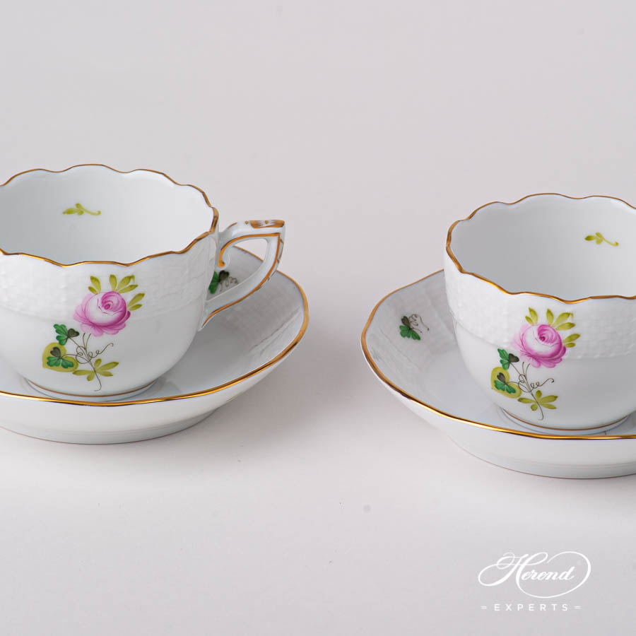 Coffee Cup with Saucer 711-0-00 VRHS Vienna / Viennese Rose Goldpattern. Herend fine china