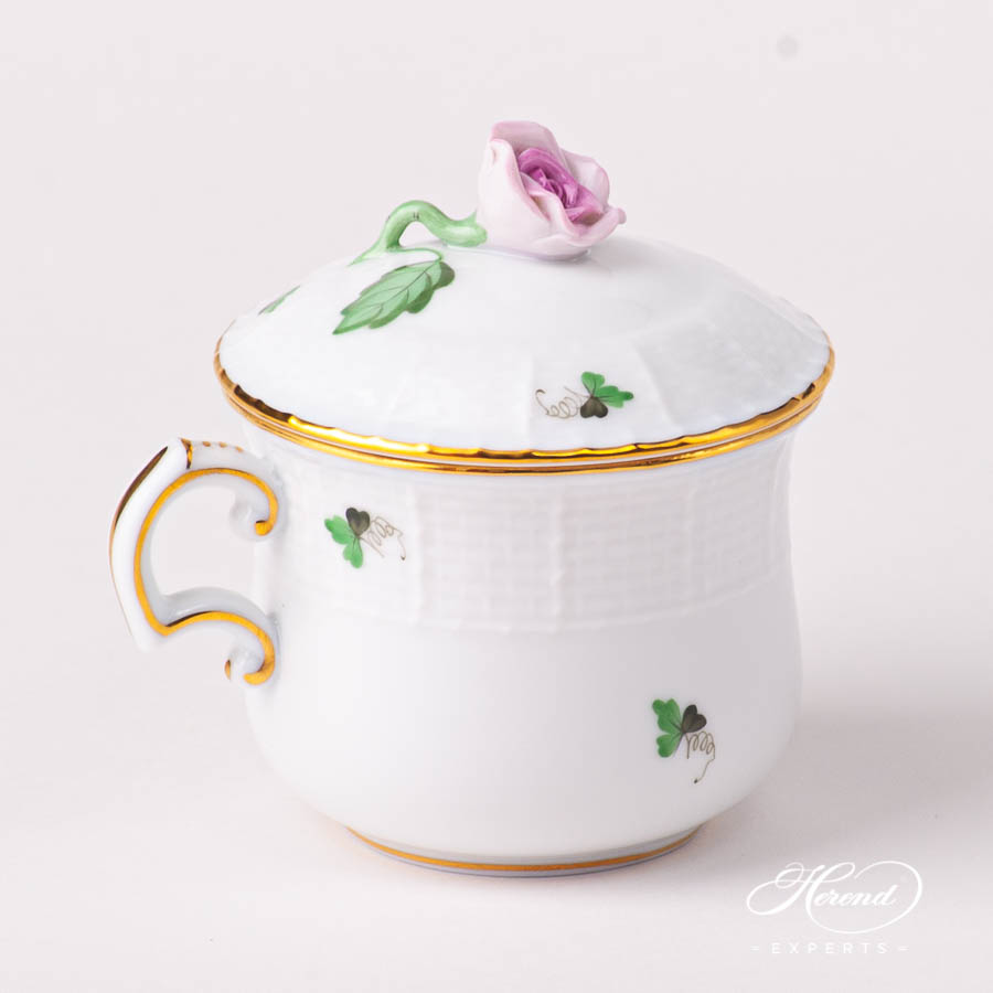 Cream Cup with Rose Knob 385-0-09 VRHS Vienna / Viennese Rose Goldpattern. Herend fine china