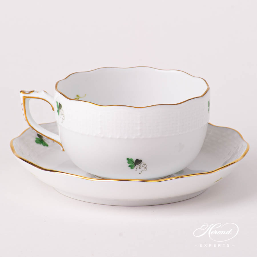Tea Cup with Saucer 724-0-00 VRHS Vienna / Viennese Rose Gold pattern. Herend fine china