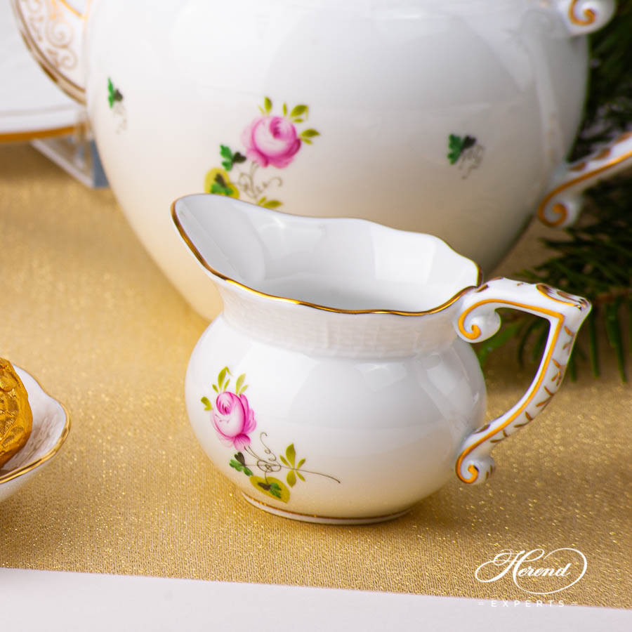Tea Set for Two Person - Herend Vienna / Viennese Rose Gold VRHS pattern. Herend fine china