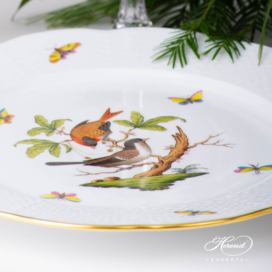 Place Setting Five Piece - Herend Rothschild Bird RO design. Herend fine china