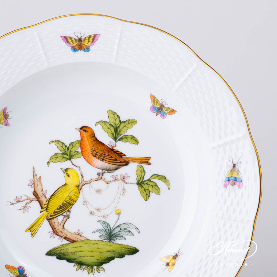 Soup Plate 503-0-00 RO Rothschild Bird design. Herend fine china