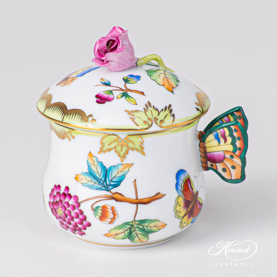 Cream Cup w. Butterfly Handle2385-0-91 VICTORIA pattern. Luxury design. Herend fine china