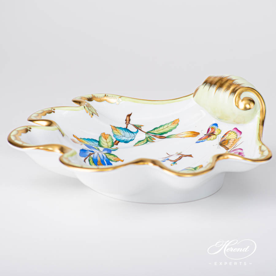 Shell7521-0-00 VICTORIA Special pattern. Fancy Dish. Luxury design. Herend fine china